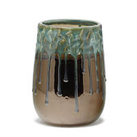 Bling copper ceramic vase round high S 670620