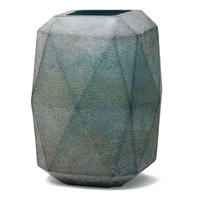 Dough blue geomatric glass vase high L 675425