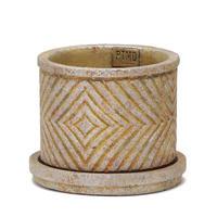 P.T.M.D Ruiten cement pot S gold 691455