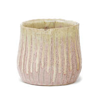 Twill pink ceramic pot wz gr top round S 681136