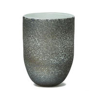 Monika grey dark glass vase round L 683932