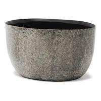 Arnem grey ceramic pot oval L 684687