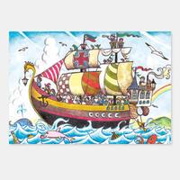 ポストカード 海賊 封筒付き