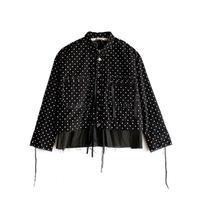 Midorikawa / 2PKT SHORT SHIRT JAKET- BLACK /WHITE