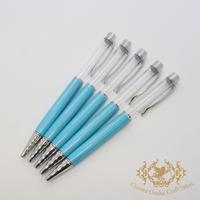 4:ハーバリウムボールペン単体 ライトブルー×S 5本組
