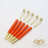 11:ハーバリウムボールペン単体 オレンジ×GO  5本組