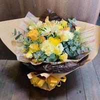 【母の日限定!】生花の花束~yellow~