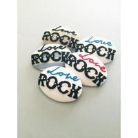 Love Rock A 刺繍バッチ (おまけde缶バッジ)