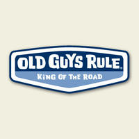 OG525B King of the Road Sticker (blue)