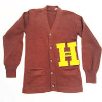 VINTAGE 50's lettered cardigan