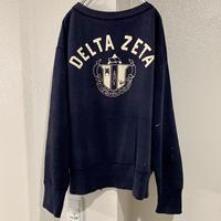 "60's vintage sweat shirt ""DELTA ZETA"""