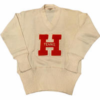 50's OSHMAN'S SAND KNIT LETTERED SWEATER