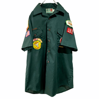 old boy scout shirt ワッペンシャツ