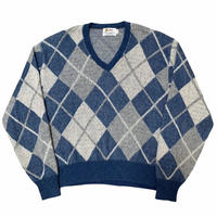 60-70's BARCLAY VINTAGE MOHAIR KNIT SWEATER