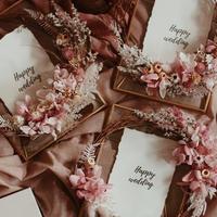 pink 真鍮フォトフレームリース