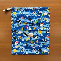 海の生き物柄巾着 [HOU-BA-20]