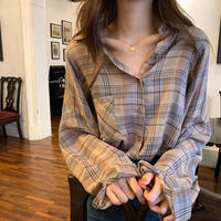 レトロ チェックカラー シャツ