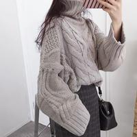 タートルネック  ツイストプルオーバー  セーター