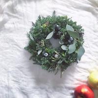 「花かんむりの会」...クリスマスリース... 午後の部