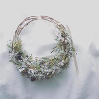 「花かんむりの会」---初夏のグリーンのリースブーケ--- 午前の部
