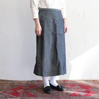 OMNIGOD_インディゴヘリンボーン ウエスタンスカート/ladies【57-0174S】