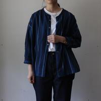 OMNIGOD_インディゴワイドスタンドカラーシャツ/ladies【56-0902X】