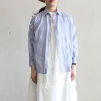 OMNIGOD_ストライプマニッシュシャツwomen/【56-0916X】