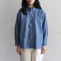 OMNIGOD_シャンブレーBDシャツwomen/【56-0345X】