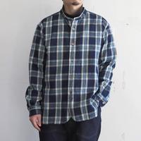 OMNIGOD_オリジナルインディゴフランネル クラシックスタンドカラーシャツ/mens【56-0315X】