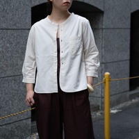 7/1 SLEEVE STAND COLLAR SHATS  [56-882X  Ladies]