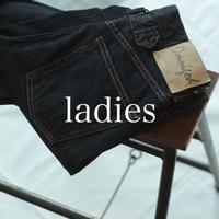 甘織りデニム 5Pルーズストレートジーンズ / ladies _ one wash【 50-0580C 】
