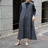 HONNETE / SLEEVELESS V WIDE DRESS [I012D0036 Ladies]
