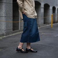 OMNIGOD_11ozデニム PWイージースカート/ladies【57-0168D used】