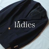 ウールサージ 紺ブレザー / ladies【 58-847N 】