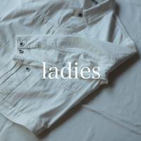 甘織りホワイトデニム ショートジャケット / ladies【 58-0850E 】