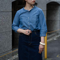 7/1 SLEEVE STAND COLLAR SHATS  [56-881X  Ladies]
