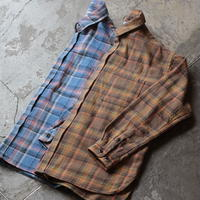 OMNIGOD_ネルチェック マニッシュシャツ/ladies【56-0906T】