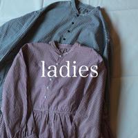 セルヴィッチブロードギンガムチェック ギャザードレス / ladies【 57-0626X 】