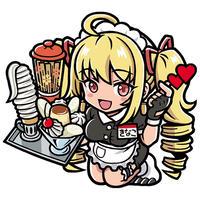 大食堂きなこ・びっくりシール【背景:ゴールド】