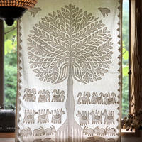 「生命の木」パッチワークタペストリー b