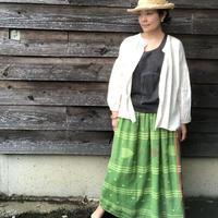 ルクツル 手紡ぎ手織りジャムダニ織スカート