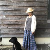 ルクツル ハンドブロックプリントスカート