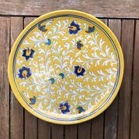 ブルーポッタリーの丸皿 25×25cm
