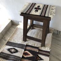羊毛手織りマット 4枚セット
