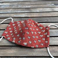 ルクツルの布マスク 茜の赤更紗
