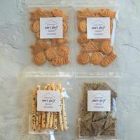 数量限定!米粉のこどもの日クッキー(きな粉)2袋&さつま&ごま【ネコポス利用お得4袋セット】