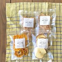 冬季限定!【ジャーキー&アップル&みかん】ジャーキー2袋とドライフルーツ2袋セット