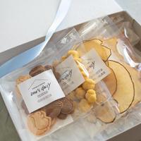 【期間限定】リスとどんぐりのギフトセット(リスとどんぐりクッキー&和梨&かぼちゃ&アップル&ささみ)5袋※BOX付き