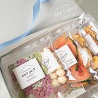 【期間限定】紫陽花ギフトセット(紫陽花&ドライすいか&たまごなし&アップル&ささみ)5袋※BOX付き