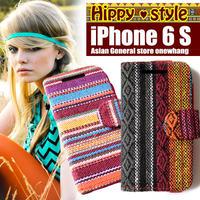 iphone6 アイフォンケースモン族iphoneケース !コットン素材エスニック柄ヒッピー大絶賛!ハードケースとシリコンケース!手帳型の横開き個性的でおしゃれなスマホ iphone6S